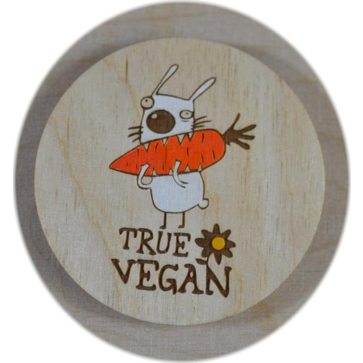 "Магнит ""GO VEGAN"" - ""TRUE VEGAN"""