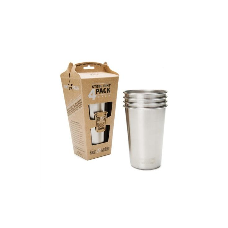 Набор стаканов Klean Kanteen PINT CUP 4-Pack 473мл - Brushed Stainless